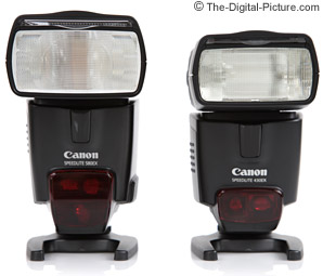 Canon Speedlite 430EX and 580EX Comparison - Front View