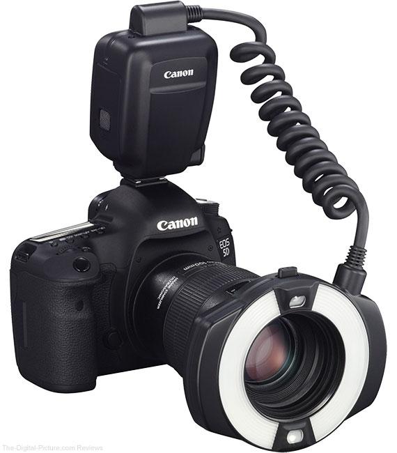 Canon Macro Ring Lite MR-14EX II Flash On Camera