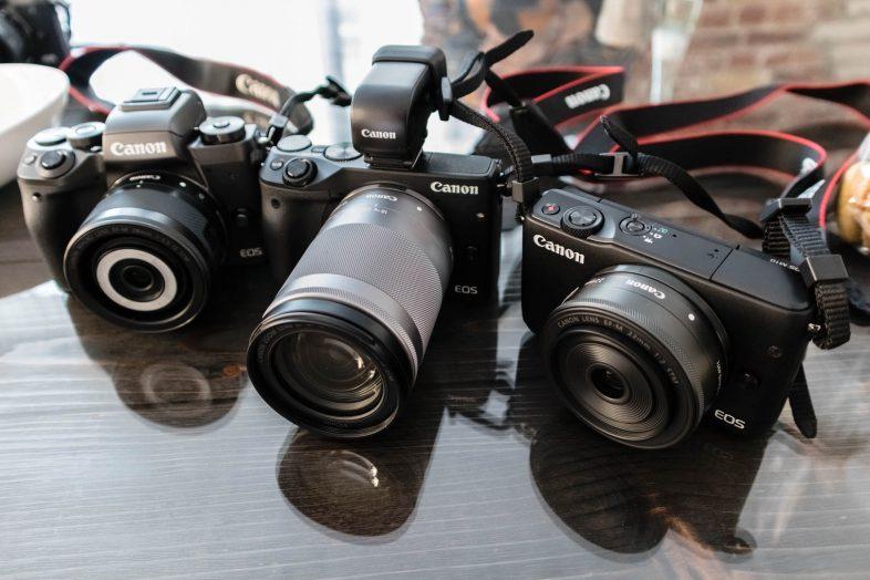 Canon EOS M10 vs. EOS M3 vs. EOS M5
