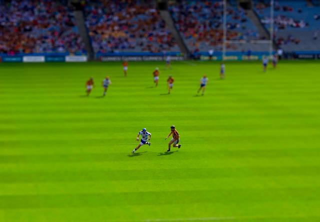 Sport using tilt-shift photography